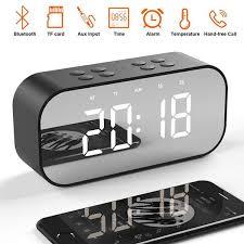 2019 <b>LED Mirror Clock Kids</b> Alarm Clock LED Night Desk Digital ...