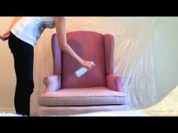 diy how to spray paint fabric on furniture youtube can you paint leather furniture