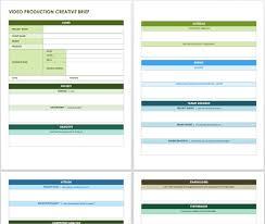 creative brief templates smartsheet video production creative brief template