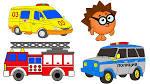 Раскраски полицейских машин и пожарных машин