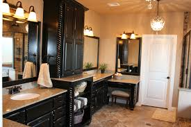 dual vanity bathroom: bathroom charming vanities without tops for black wooden with sink and light tile floor decoration