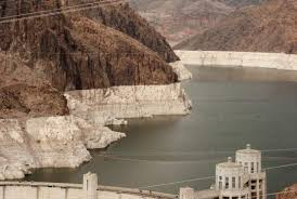 Image result for Water level in reservoir formed by Hoover Dam dips to record low