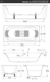 <b>Стальная ванна</b> BLB DUO COMFORT HG <b>180Х80</b> без отверстий ...