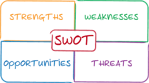 personalized guidance resource tool for start up and small swot analysis business strategy management process concept diagram illustration