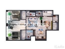 3-к квартира, 122.1 м², 3/6 эт. в Москве   Покупка и аренда ...