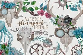 Watercolor <b>Steampunk</b> Graphics