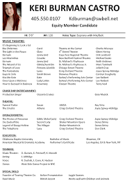 musical theatre resume template theater technical musical theatre    musical theatre resume template pin musical
