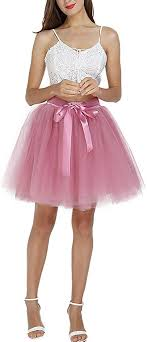 Facent Girls <b>Midi Tulle Skirts</b> Princess Ballet Petticoat for Prom ...