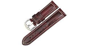<b>MAIKES Watch Band</b>, Vintage Oil Wax Leather Strap 5 Colors 18mm ...