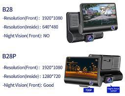 E ACE <b>Car Dvr 3</b> Camera Lens 4.0 Inch Video Recorder Dash Cam ...