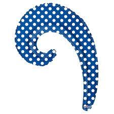 """Фольгированный шарик Волна ROYAL <b>BLUE</b> в <b>горошек</b> 14""""/36см ..."""