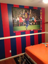 barcelona soccer painted wall for my son leomessi10 barcelona bedroom