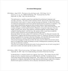Annotated Bibliography   Free Sample  Example  Format   Free     lbartman com