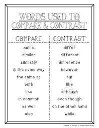 images about compare and contrast on pinterest  bats  compare and contrast