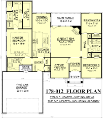 Sandstone Village House Plans   Flanagan ConstructionChief Architect    FLOOR PLAN layout