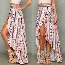 <b>HIRIGIN</b> Vintage floral <b>print</b> long skirts women <b>Summer</b> elegant ...