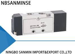 YPC <b>Type</b> 5 Port 3 Way Solenoid Valve Pneumatic Sanmin <b>4A</b> 100 ...