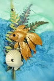 """Авторская <b>брошь</b> из кожи """"Золотая рыбка"""" - золотая рыбка ..."""