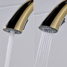 <b>FLG</b> Kitchen Faucet <b>Pull Out</b> Cold and hot Golden Kitchen Tap ...