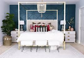 wooden brass bedroom