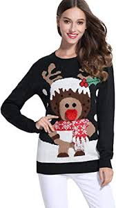 *daisysboutique***** Women's <b>Christmas Cute Reindeer</b> Knitted ...