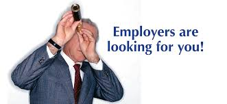 career development alfred state male looking into a scope employers are looking for you
