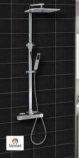 thermostatic brand bathroom: square thermostatic shower mixer dual overhead shower head bathroom shower set in home furniture amp
