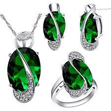 Uloveido <b>Rainbow</b> Multi <b>Color Crystal</b> White Gold Plated Jewelry...