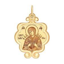 Золотая <b>иконка SOKOLOV</b> 104125_s — купить в AllTime.ru — фото