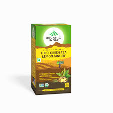 TULSI GREEN <b>TEA</b> LEMON GINGER, <b>Organic</b> India (ТУЛСИ ...