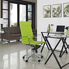 green office desk. modern minimalist office design with stylish green swivel chair over small desk high back f