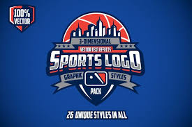 <b>3D Sports</b> Logo Graphic <b>Styles</b> Pack | <b>Sports</b> logo, <b>Sports</b> logo ...