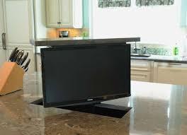 9 Smarter Spots for the TV   Tv in kitchen, <b>Hidden</b> tv, House