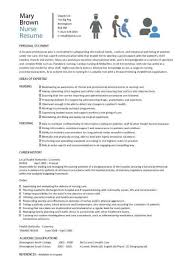 nursing cv template  nurse resume  examples  sample  registered    nursing cv template