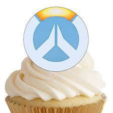 x edible overwatch logo cupcake toppers birthday party wafer 16x edible overwatch logo cupcake toppers birthday party wafer paper 4cm uncut