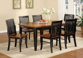 Colored Dining Room Sets Black And Brown Painted Oak Mission Style Dining Room Set With