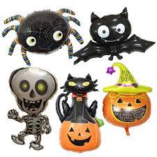 <b>Halloween Aluminum</b>-film Balloon Cartoon <b>Pumpkin Ghost</b> Skeleton ...
