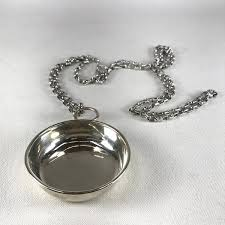 Porter Blanchard <b>Sterling Silver Wine</b> Taster with Metal Chain ...