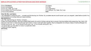 iron worker job titleantichecking iron worker job application letter