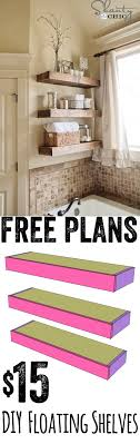 free diy furniture project plan learn how to build floating shelves for 15 bathroomcute diy office homemade desk plans furniture