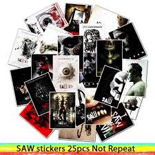 <b>25Pcs Classic</b> Horror <b>Movie</b> Saw PVC Stickers For Laptop ...