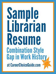 images about resume on pinterest   school librarian  resume    sample librarian resume  this is a good example for someone who has a gap in
