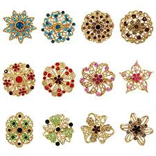 WeimanJewelry Yellow Gold Plated Lot 12pcs <b>Multicolor Crystal</b>