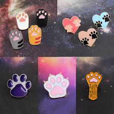<b>Dog Cat Claw Series</b> Brooch Cute Toe Bean Team Heart Paw Print ...