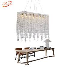 <b>Fanmee Modern Crystal Chandelier</b> Lighting Linear Chandelier ...