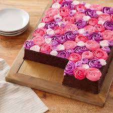 <b>Pink and Purple</b> Rosette Cake   Wilton