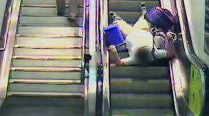 Network Rail releases video of people falling down escalators ... via Relatably.com