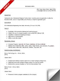 mechanical engineering student resume sample engineering resume examples for students