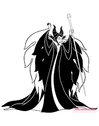 Small Picture Sleeping Beauty Maleficent Coloring Page