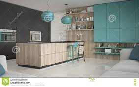 details furniture design kitchen wooden minimalistic gray kitchen with wooden and turquoise details min